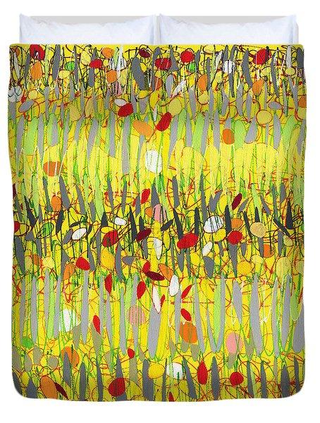 Yellow Jazz Duvet Cover