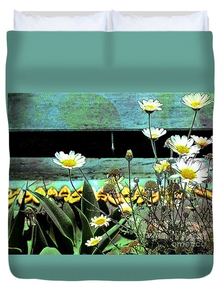 Yellow Kayaks Duvet Cover