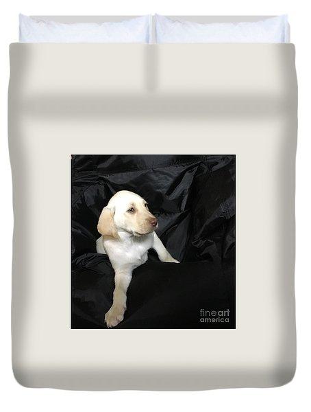 Yellow Lab Puppy Sadie Duvet Cover