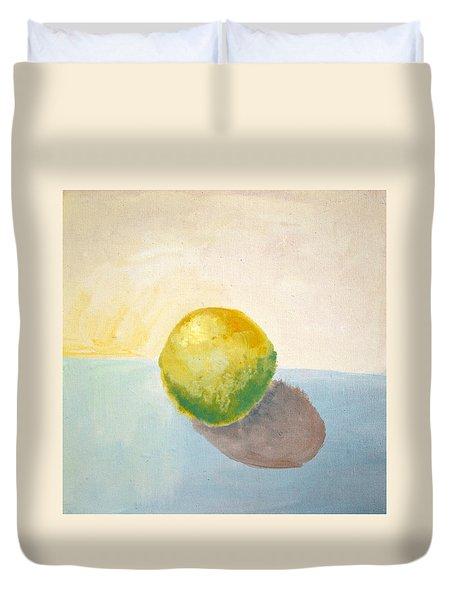 Yellow Lemon Still Life Duvet Cover by Michelle Calkins