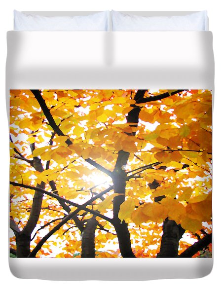 Yellow Light Duvet Cover