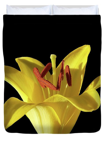 Yellow Lily Macro 2 Duvet Cover