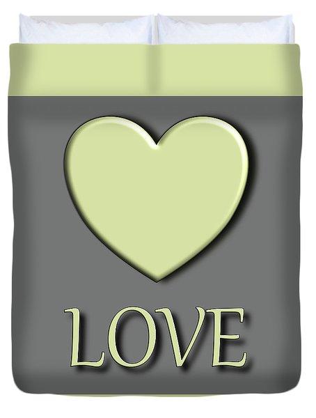 Yellow Love Duvet Cover