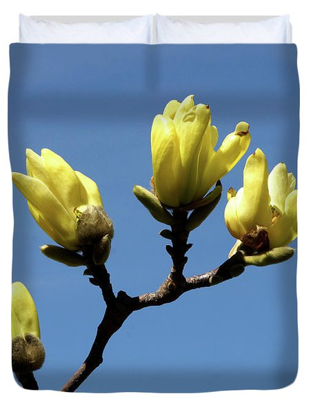 Yellow Magnolia Duvet Cover