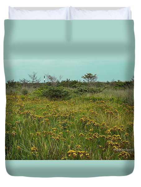 Duvet Cover featuring the photograph Yellow Meadow by Jose Oquendo