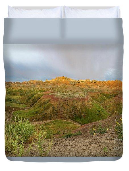 Yellow Mounds Morning Duvet Cover