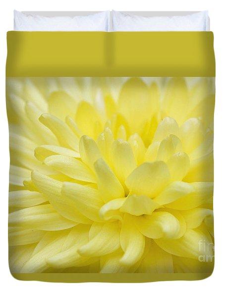 Yellow Mum Duvet Cover