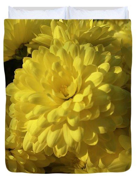 Yellow Mums Duvet Cover