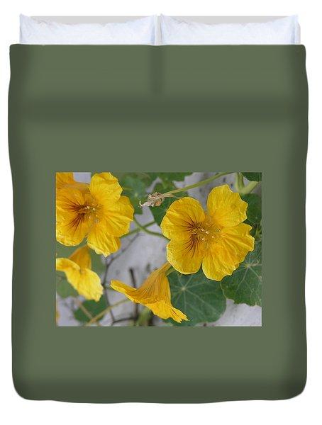 Yellow Nasturtium Duvet Cover