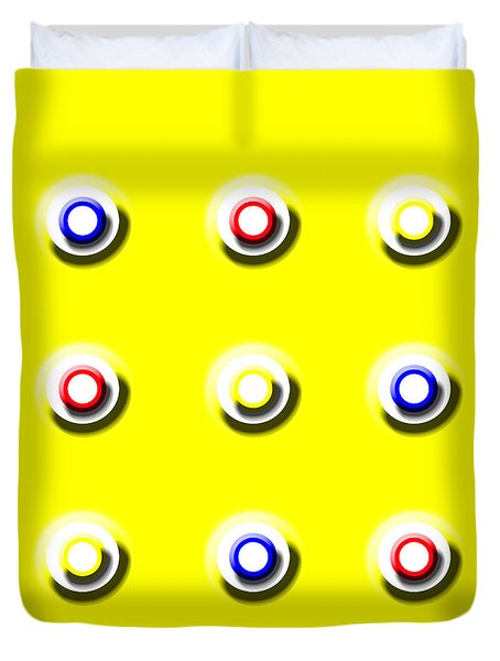 Yellow Nine Squared Duvet Cover