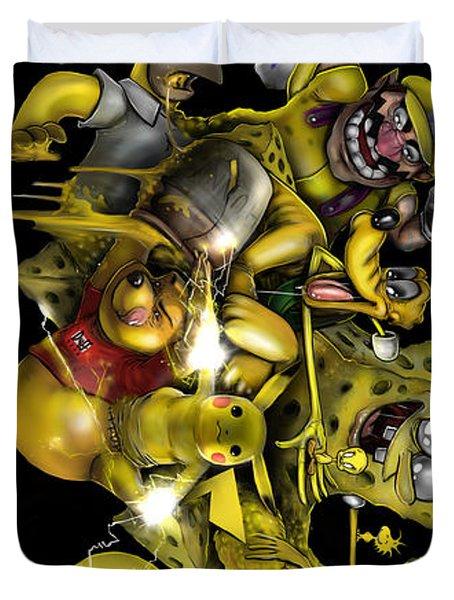 Yellow Nostalgia Duvet Cover