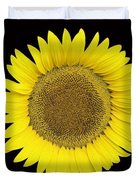 Yellow On Black Duvet Cover