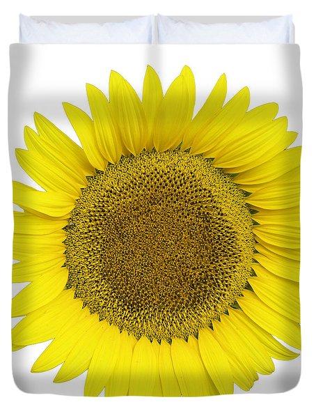 Yellow On White Duvet Cover