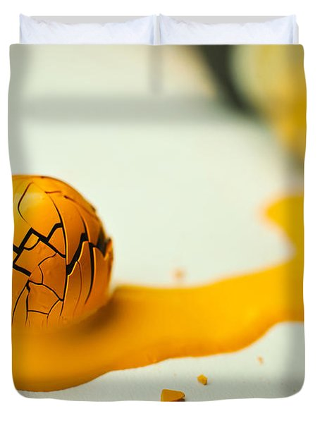 Yellow Painted Ball Duvet Cover