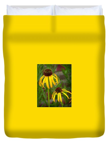 Yellow Pair Duvet Cover