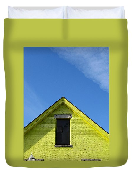 Yellow Peak Duvet Cover