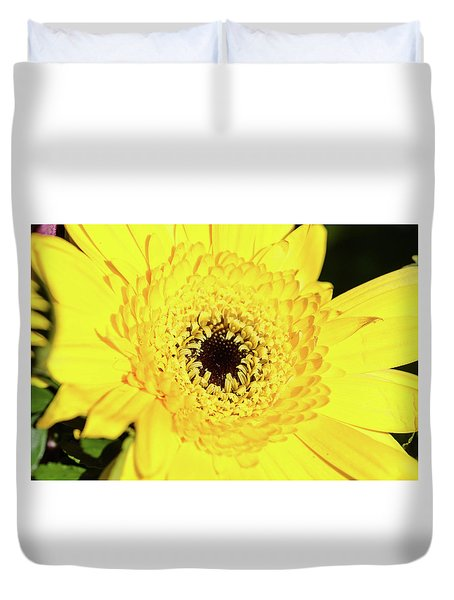 Yellow Pedal Duvet Cover