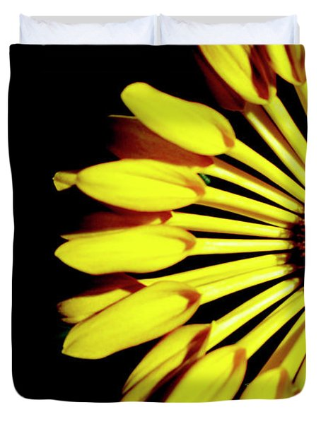 Yellow Petals Duvet Cover