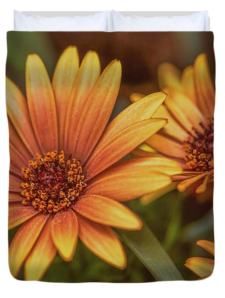 Duvet Cover featuring the photograph Yellow Petals #g3 by Leif Sohlman