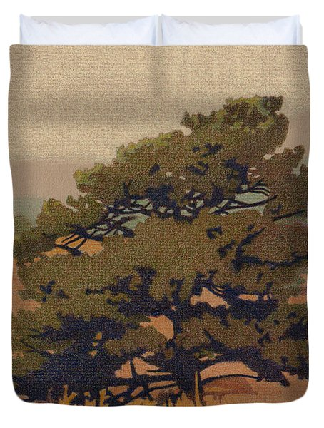 Yellow Pine Duvet Cover