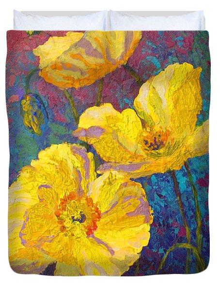 Yellow Poppies Duvet Cover