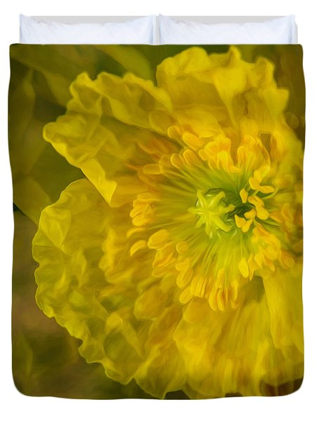 Yellow Poppy Duvet Cover