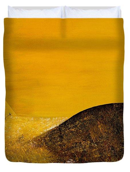 Yellow Pyramid Duvet Cover by Mayhem Mediums