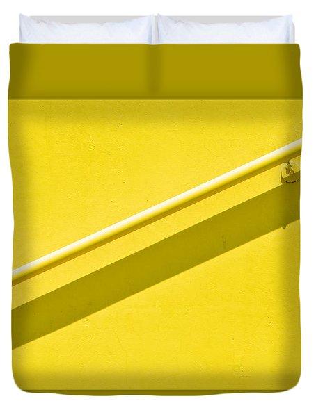 Yellow Rail Duvet Cover