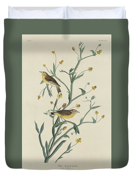 Yellow Red-poll Warbler Duvet Cover