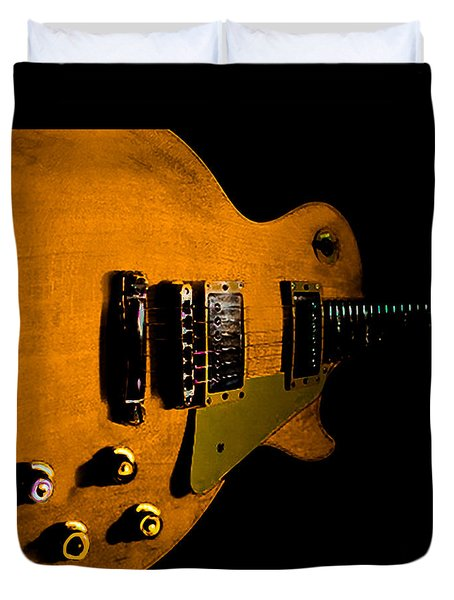 Yellow Relic Guitar Hover Series Duvet Cover