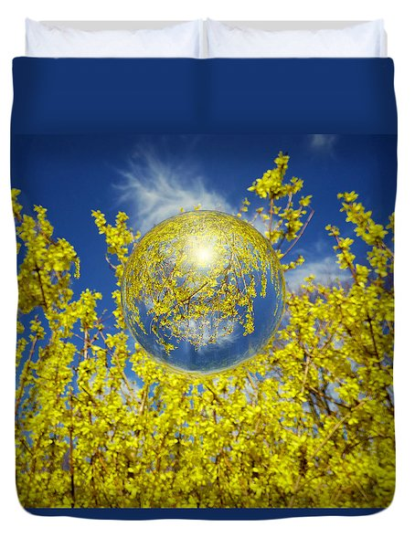 Duvet Cover featuring the photograph Yellow by Robert Geary