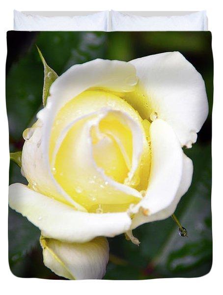 Yellow Rose 1 Duvet Cover