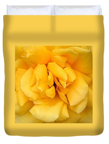 Yellow Rose Duvet Cover by Bob Wall