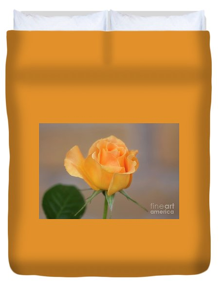 Duvet Cover featuring the photograph Yellow Rose Of Texas by Joan Bertucci