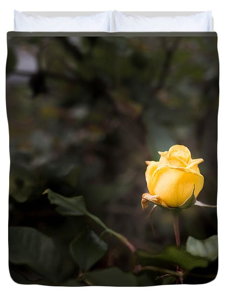 Yellow Rose Duvet Cover