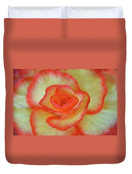 Yellow Rose With Red Tips Duvet Cover