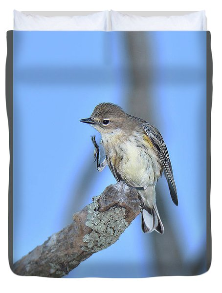 Yellow-rumped Warbler Itch Duvet Cover