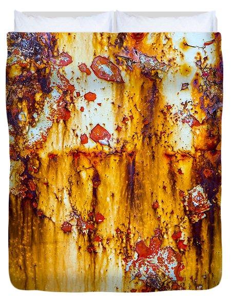 Yellow Rust Duvet Cover