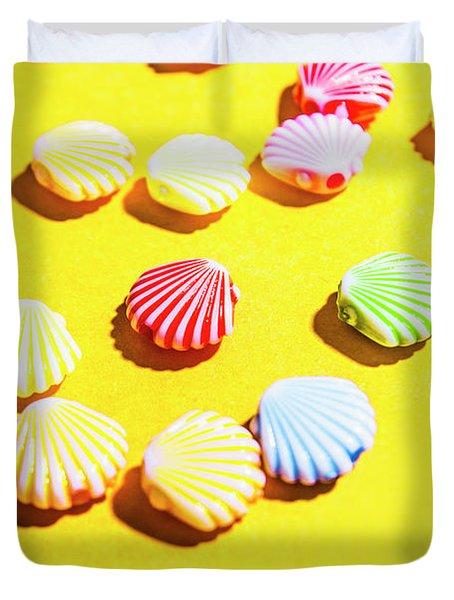 Yellow Seaside Scenes Duvet Cover