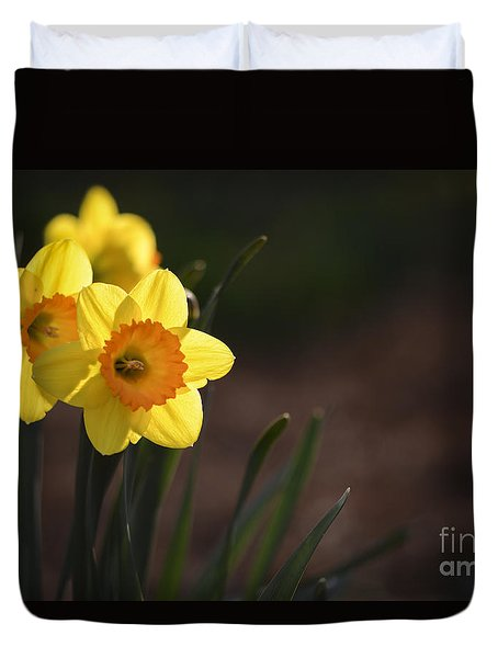 Yellow Spring Daffodils Duvet Cover