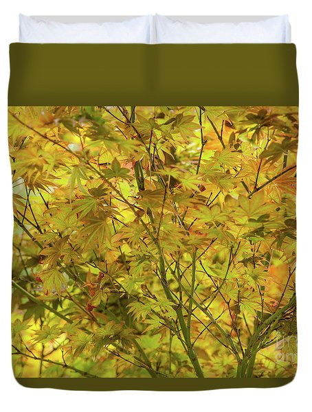 Yellow Spring Duvet Cover by Iris Greenwell