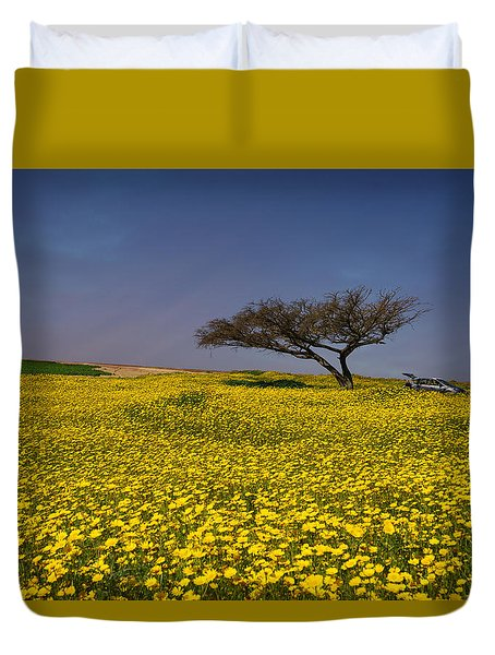 Yellow Spring Duvet Cover