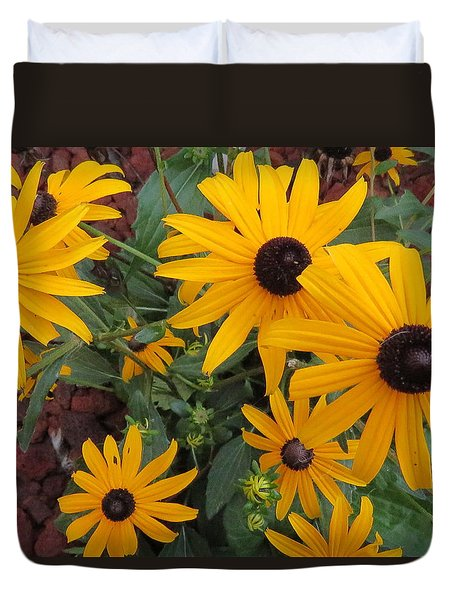 Yellow Stant Out Duvet Cover