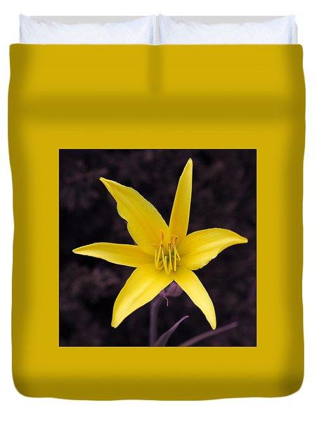 Yellow Star Duvet Cover