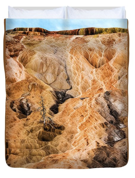 Duvet Cover featuring the photograph Yellow Stone National Park Abstract by Mae Wertz