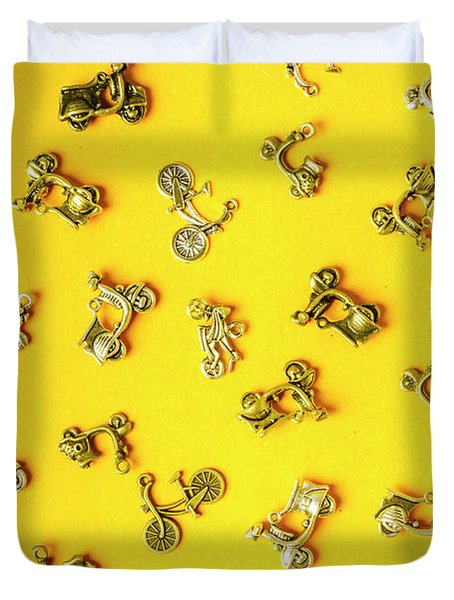Yellow Summer Transport Duvet Cover