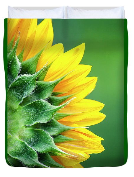 Yellow Sunflower Duvet Cover by Christina Rollo