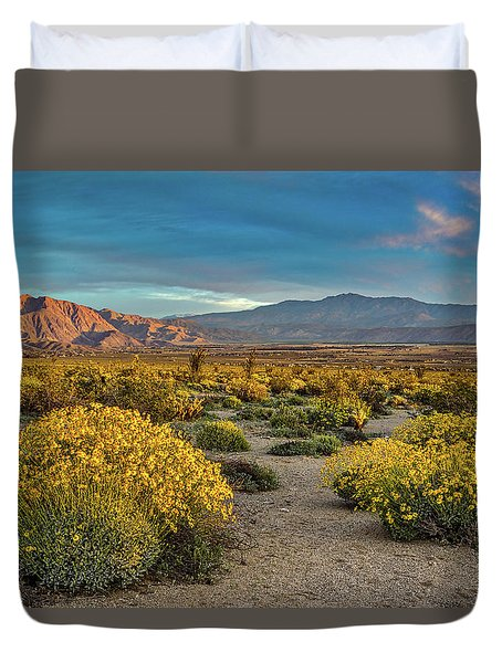 Duvet Cover featuring the photograph Yellow Sunrise by Peter Tellone