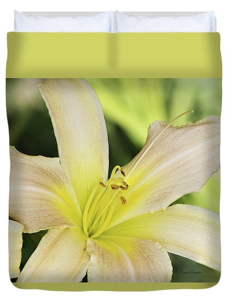 Yellow Tan Lily 1 Duvet Cover