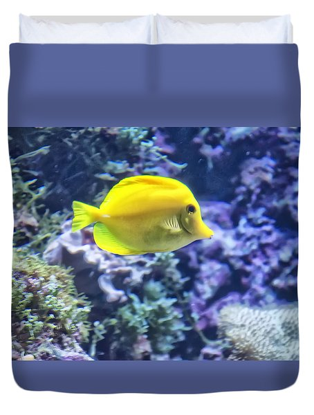 Yellow Tang Duvet Cover